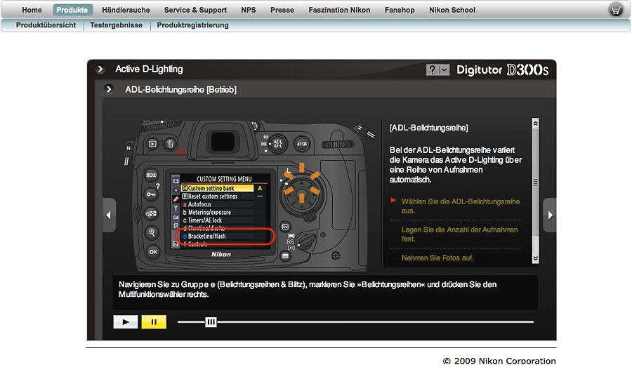 Nikon Digitutor Demo
