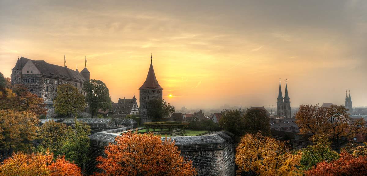Nuernberg Burg Herbstmorgen 2 1