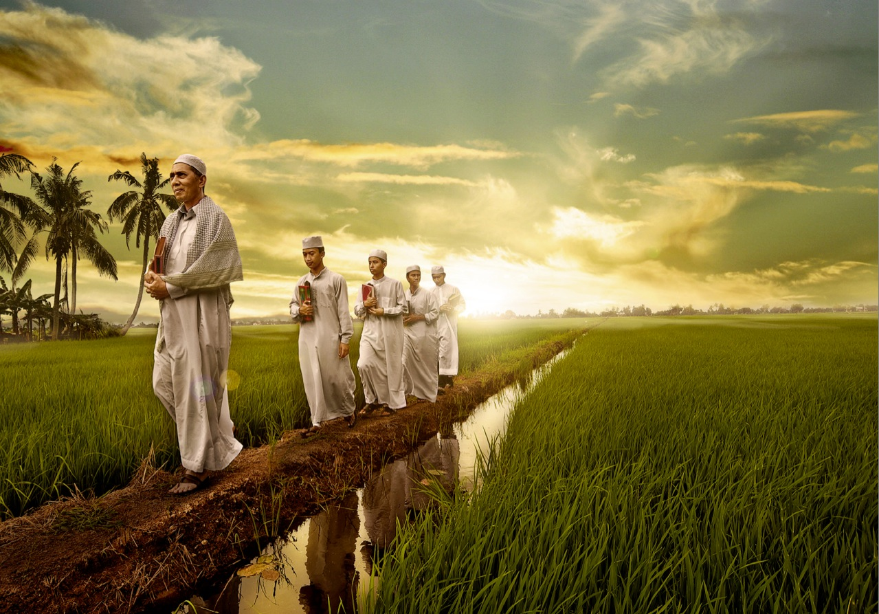 Inder im Reisfeld